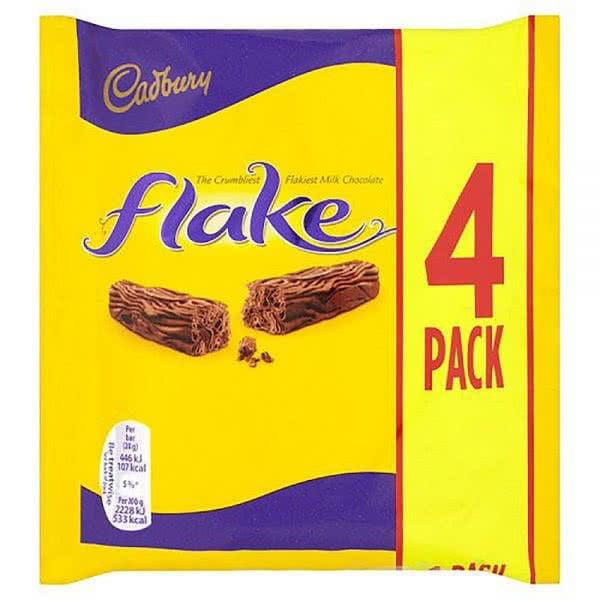 Flake Milk Chocolate Cadbury 4 Pack