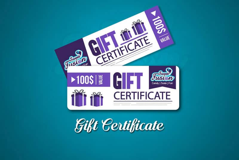 Sweet Fusion Gift Certificate
